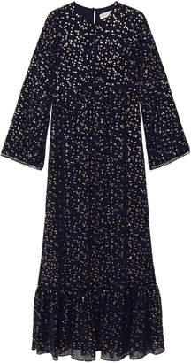 MICHAEL Michael Kors Metallic-printed Georgette Maxi Dress