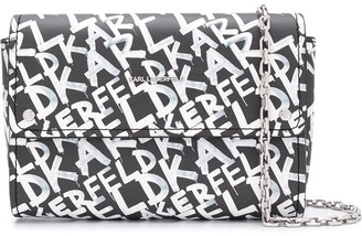 Karl Lagerfeld Paris All-Over Logo Print Clutch Bag