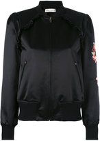 Veronique Branquinho floral embroidered bomber jacket - women - Silk/Cotton - 38