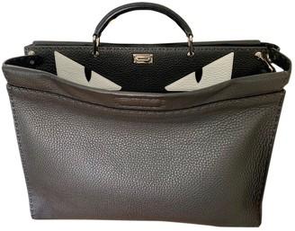 Fendi Peekaboo Anthracite Leather Bags