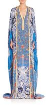 Roberto Cavalli Printed Silk Caftan Gown