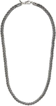 Emanuele Bicocchi Silver Diamond-Cut Necklace