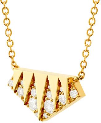 Hearts On Fire 18K 0.25 Ct. Tw. Diamond Triplicity Golden Pendant Necklace