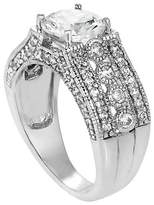 Journee Collection 4 3/8 CT. T.W. Round-cut CZ Wedding Prong Set Ring in Sterling Silver - Silver
