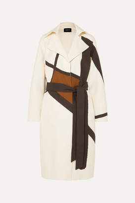 Akris Eevee Printed Cotton-blend Twill Trench Coat - Ivory