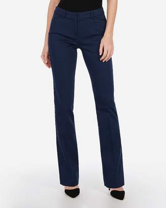 Express Mid Rise Barely Boot Cotton Columnist Pant