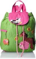 Stephen Joseph Little Girls' Quilted Backpack, Farm