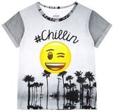 Little Eleven Paris Emoji #Chillin Motif T-Shirt