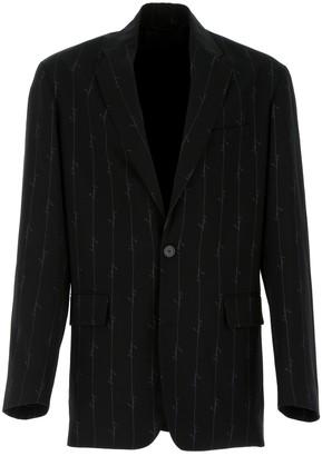 Balenciaga Logo Stripe Single-Breasted Blazer