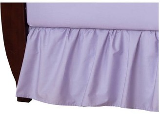 American Baby Company 100% Natural Cotton Percale Ruffled Crib Skirt, Lavender, Soft Breathable, for Girls