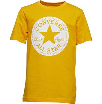 Converse Junior Boys Chuck Taylor Script Short Sleeve T-Shirt University Gold