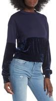 Women's Chloe & Katie Velvet Remix Sweatshirt
