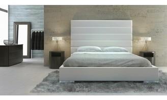 Bryce Upholstered Platform Bed AllModern Color: White, Size: King