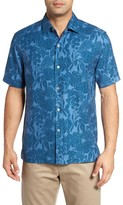 Tommy Bahama Men's Big & Tall Turtle Cove Silk Camp Shirt
