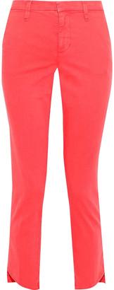 J Brand Clara Cropped Twill Slim-leg Pants