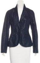 Christian Dior Metallic Denim Blazer