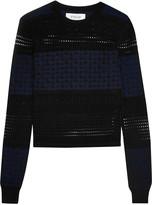Derek Lam 10 Crosby Paneled silk, merino wool and cashmere-blend sweater
