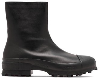 Camperlab - Traktori Zipped Leather And Rubber Ankle Boots - Black