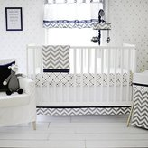 My Baby Sam Out of The Blue Crib Set, Navy/Gray by