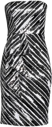 Parker Black Enid Strapless Sequin Bodycon Dress