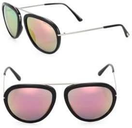 Tom Ford Stacy 57MM Mirrored Aviator Sunglasses