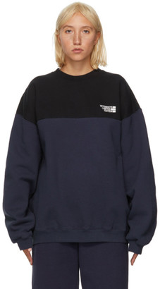 Vetements Black and Blue Cut-Up Logo Sweatshirt