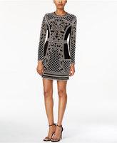 Xscape Evenings Embellished Long-Sleeve Bodycon Dress