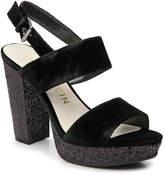 Anne Klein Women's Lorrie Platform Sandal -Black