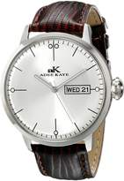 Adee Kaye Men's AK2226-M/SV Vintage Analog Display Japanese Quartz Brown Watch