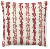 Coral Beaded Vine Pillow Cover