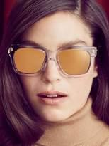Linda Farrow Luxe Women's 24K Gold Wayfarer Frame