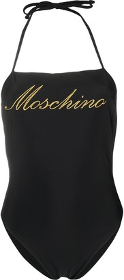 Moschino Logo-Embroidered One-Piece Swimsuit