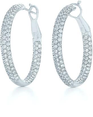 Kwiat Moonlight Pave Diamond Hoop Earrings