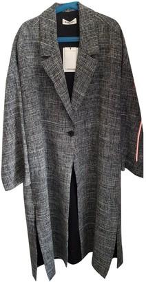Masscob Grey Linen Coat for Women