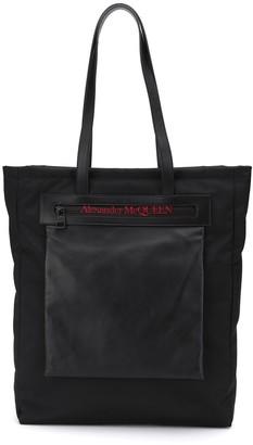 Alexander McQueen logo print tote bag