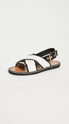 Marni Two Tone Crisscross Sandals