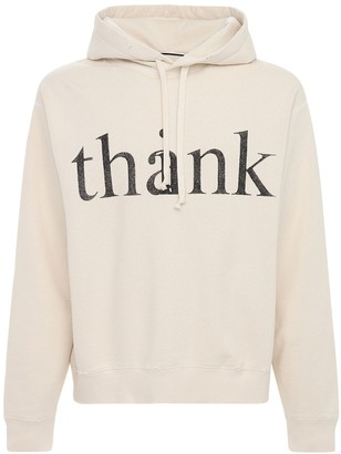 Gucci Think Thank Print Cotton Hoodie