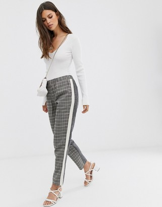 French Connection tailored pants in check