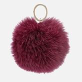 Furla Women's Bubble Pom Pom Monocol Keyring - Amarena B