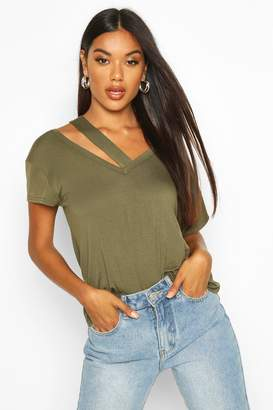boohoo Cut Out Detail T-Shirt