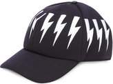 Neil Barrett lightning bolt hat - men - Leather/Viscose - One Size