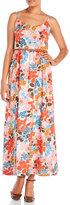 Yumi Retro Floral Print Maxi Dress