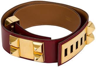 One Kings Lane Vintage Hermes Collier de Chien Rouge H Belt - Vintage Lux - rouge/gold