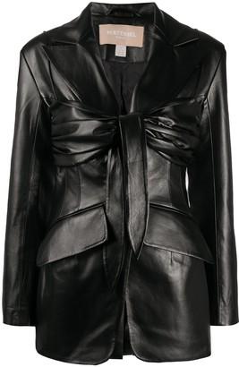 MATÉRIEL Wrap-Detail Fitted Jacket