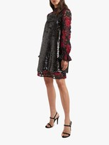 French Connection Cynthia Sequin Dress, Black