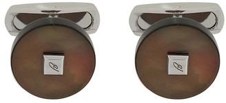 Brioni Rounded Logo-Plaque Cufflinks