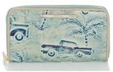 Brahmin Women's Suri Printed Leather Wallet - Blue