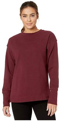 The North Face Long Sleeve Outerlands Waffle (TNF Medium Grey Heather) Women's Long Sleeve Pullover