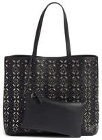 Chelsea28 Kaylee Embellished Faux Leather Tote - Black