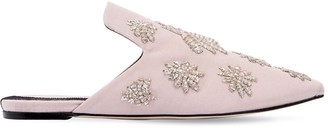 Sanayi 313 10mm Twill Mules W/ Embroidered Spiders